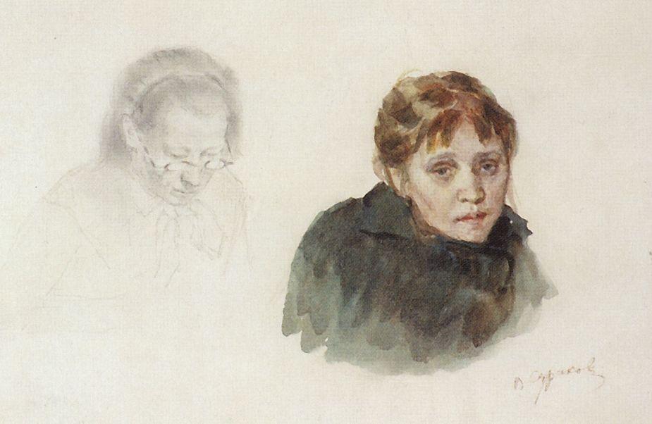 Василий Иванович Суриков. Голова девушки