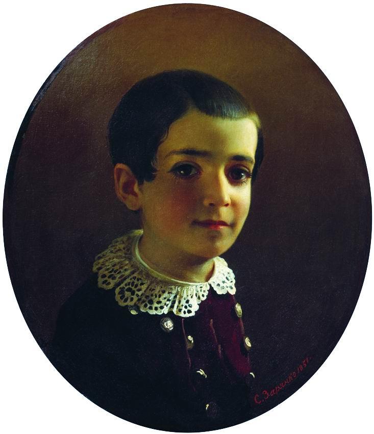 Сергей Константинович Зарянко. Портрет Вани (Ивана Христофоровича) Лазарева. 1851