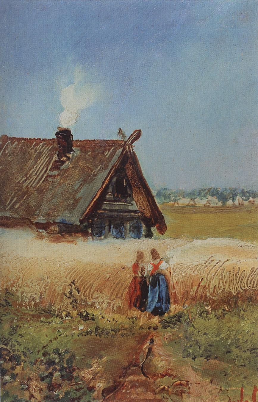 Alexey Savrasov. Kutuzov hut in Fili. Etude