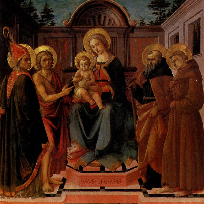 Francesco di Stefano Pezellino. The Madonna and child surrounded by saints