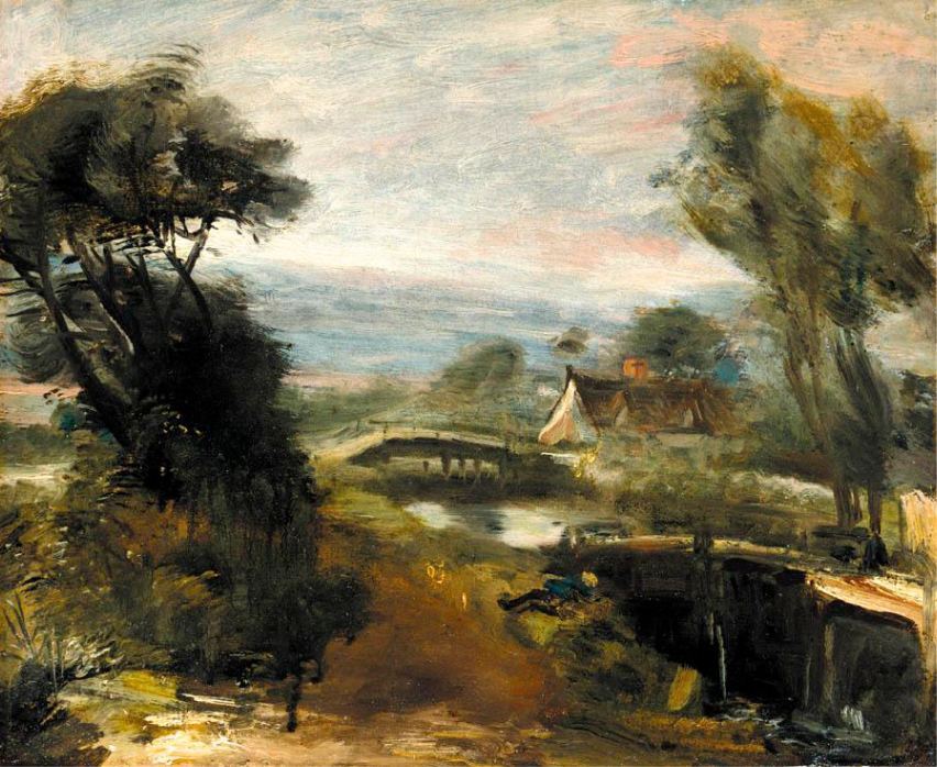 John Constable. Landscape with a mill. Flatford