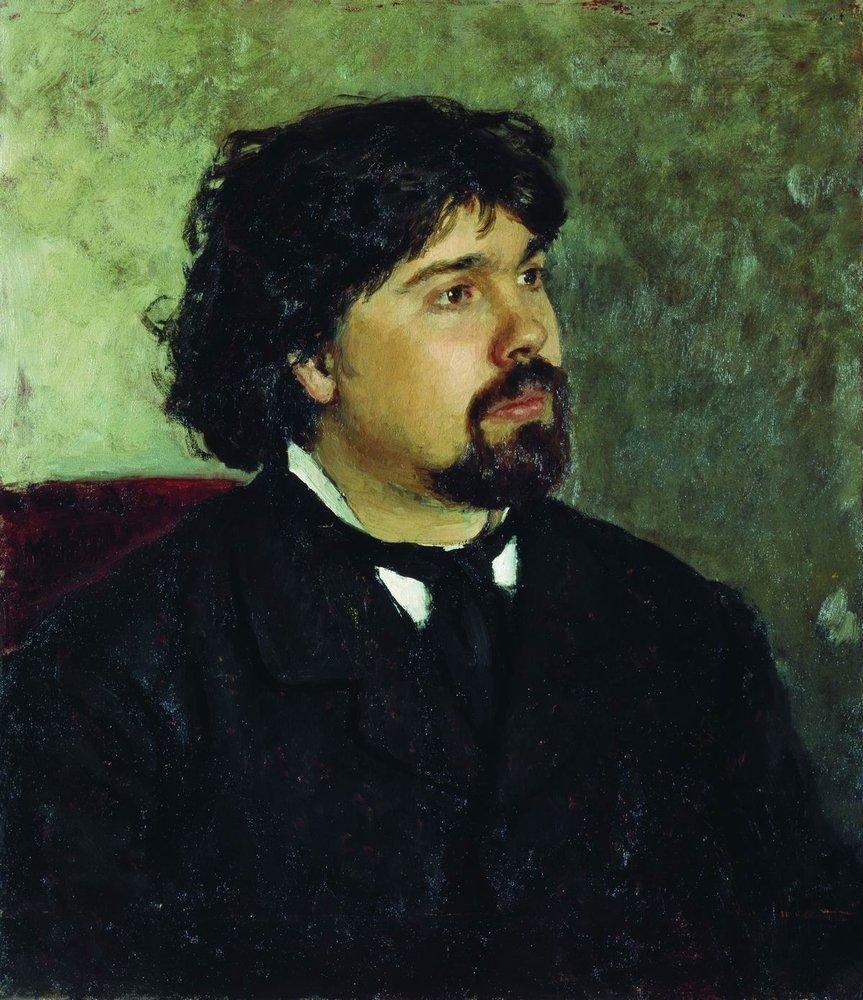 Илья Ефимович Репин. Портрет художника В. И. Сурикова