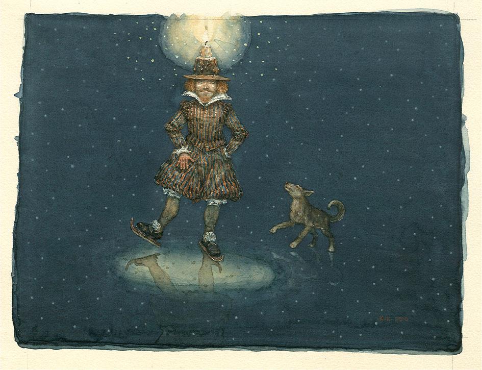 Konstantin Kalinovich. Christmas night alone