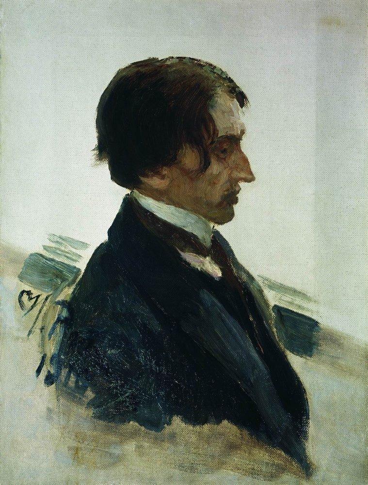 Илья Ефимович Репин. Портрет художника И. И. Бродского