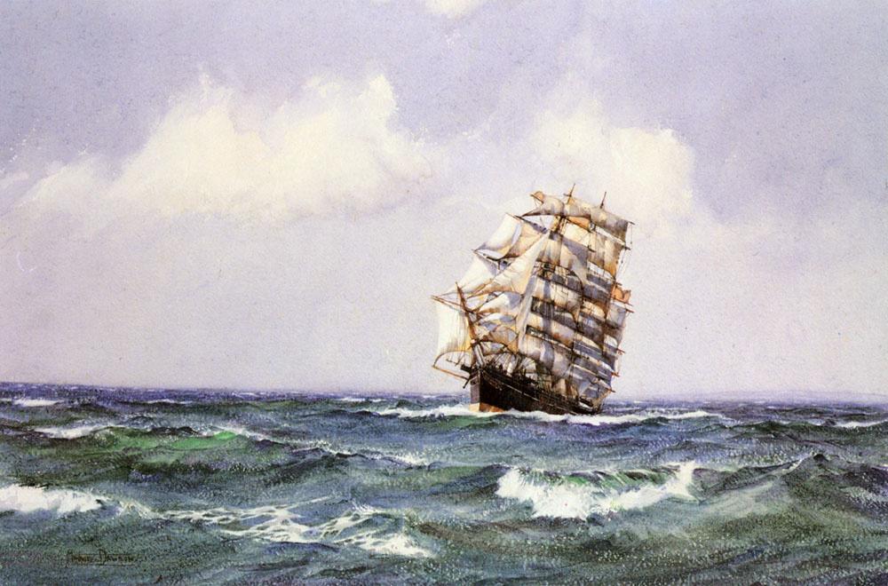 Монтегю Доусон. Корабль летней погодой