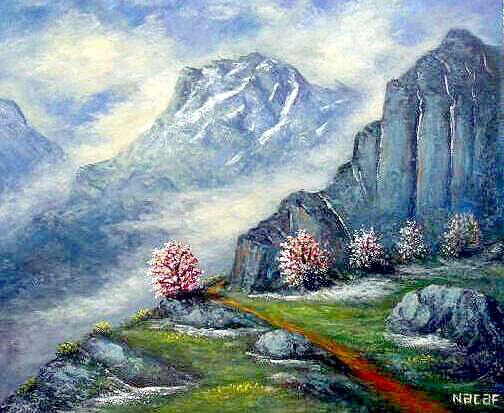 Najaf Mamedali oglu Mamedov. Spring in the mountains