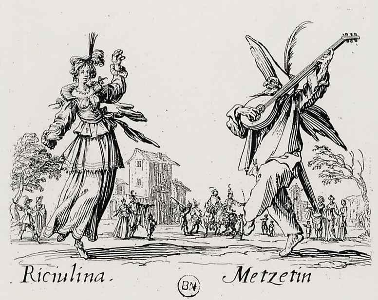 Жак Калло. Рикулина и Мецетен