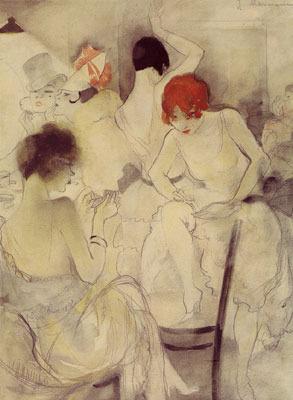 Жанна Маммен. Vor dem Auftritt, um 1928