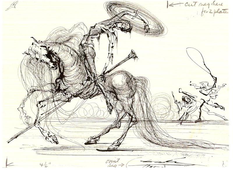 "Salvador Dali. Illustration for the ""Don Quixote"" novel"