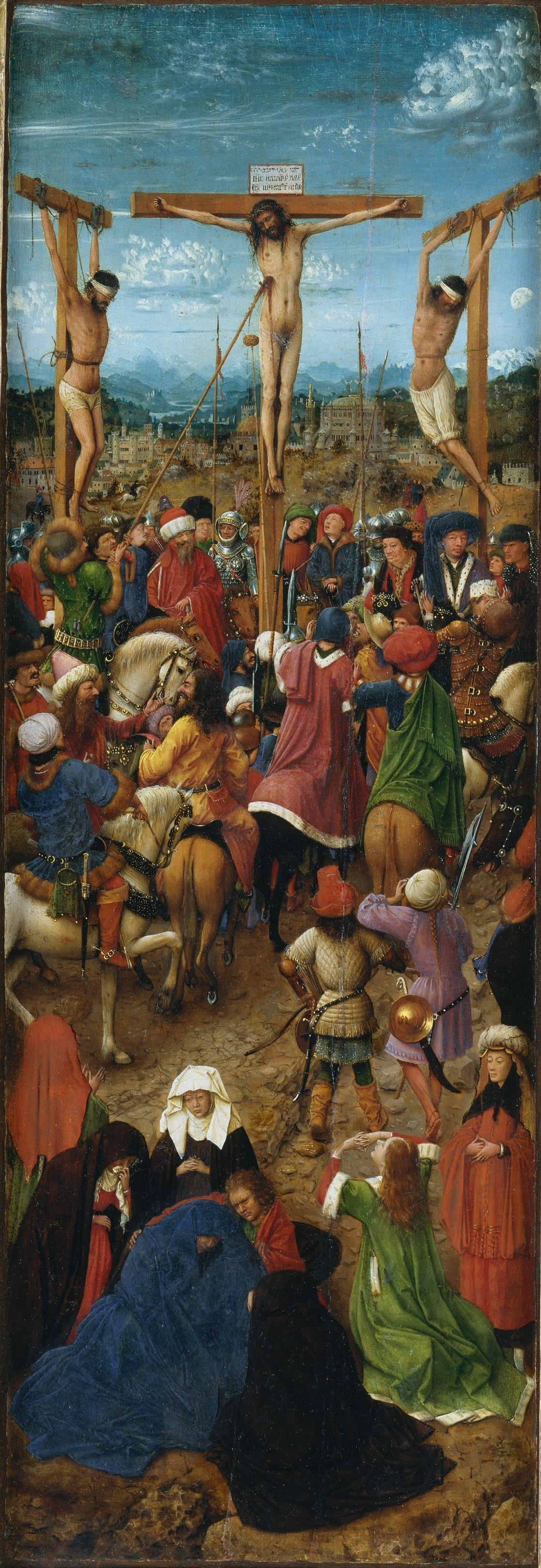 Jan van Eyck. The crucifixion, panel of a diptych, a fragment