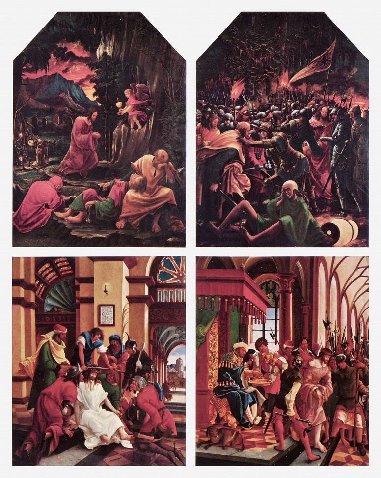 Альбрехт Альтдорфер. Христос в Гефсиманском саду, Взятие Христа под стражу, Коронование терновым венцом, Христос перед Пилатом: Алтарь св. Себастьяна