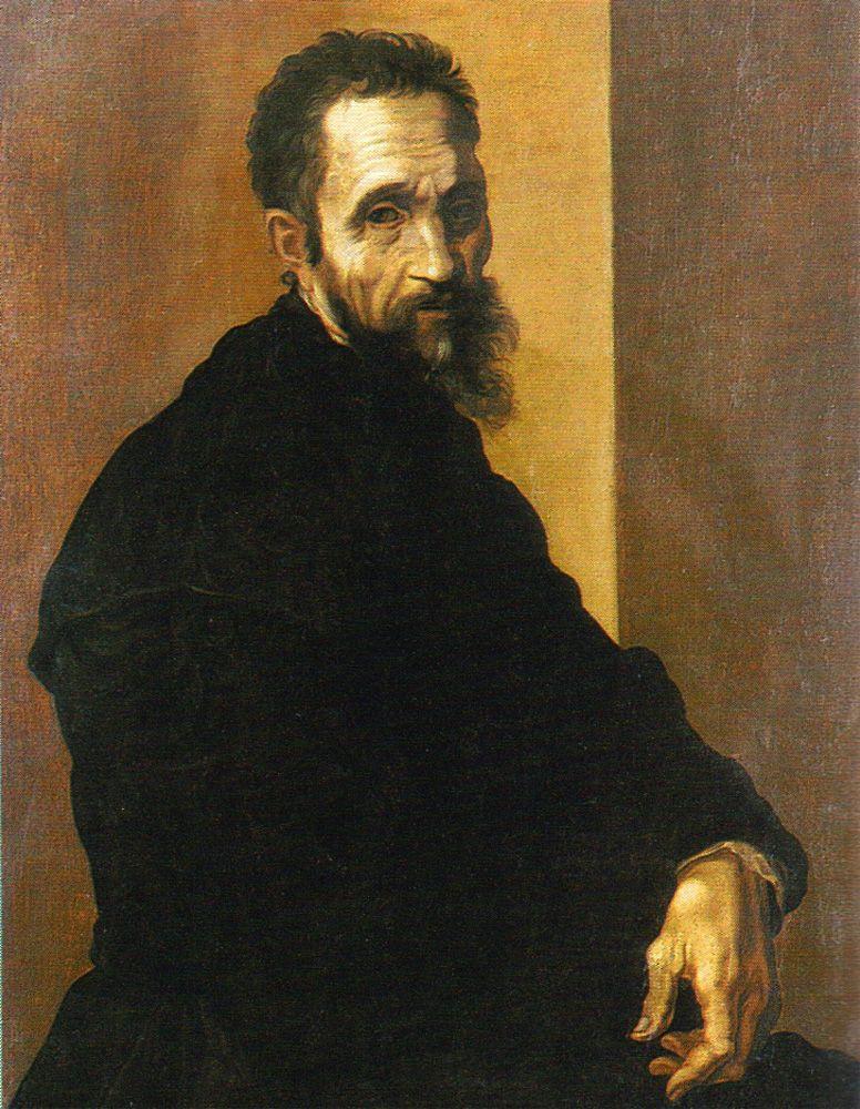 Микеланджело Буонарроти. Автопортрет