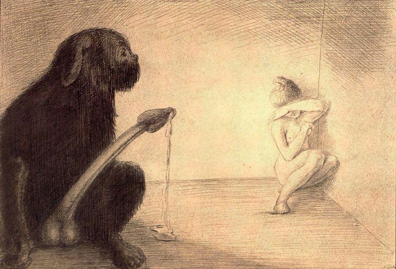 Альфред Кубин. Девушка в углу
