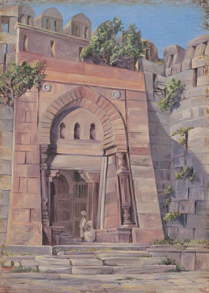 Marianna North. Tuglata Gate, Shah's Tombs, Tuglakvabad, Delhi, India