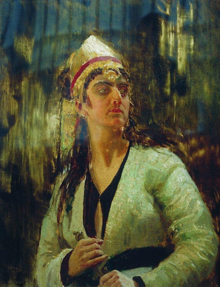 Илья Ефимович Репин. Женщина с кинжалом.