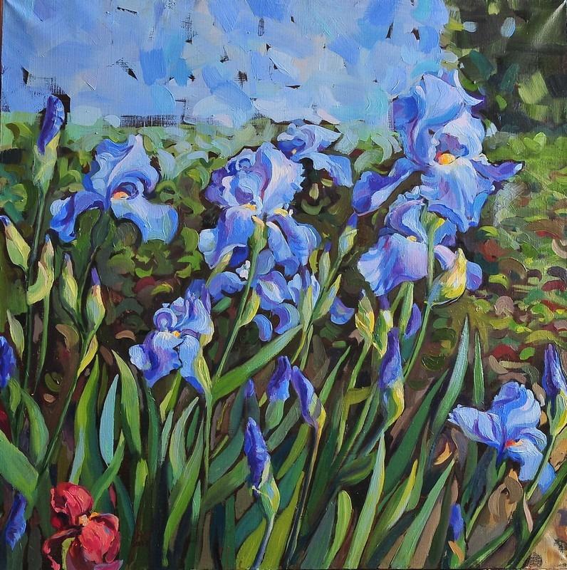 Julia Zhukovskaya. Royal irises3