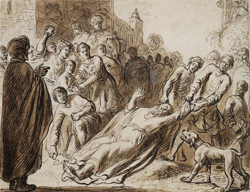 Ян Ливенс. Побиение камнями святого Павла в Листре