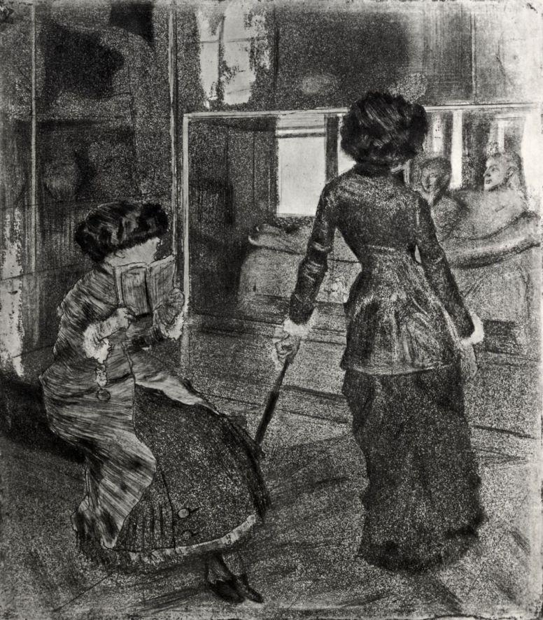 Эдгар Дега. Мэри Кассат в Лувре: галерея Этрусков