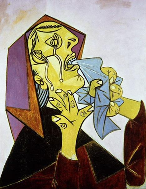 Пабло Пикассо. Плачущая женщина с платком