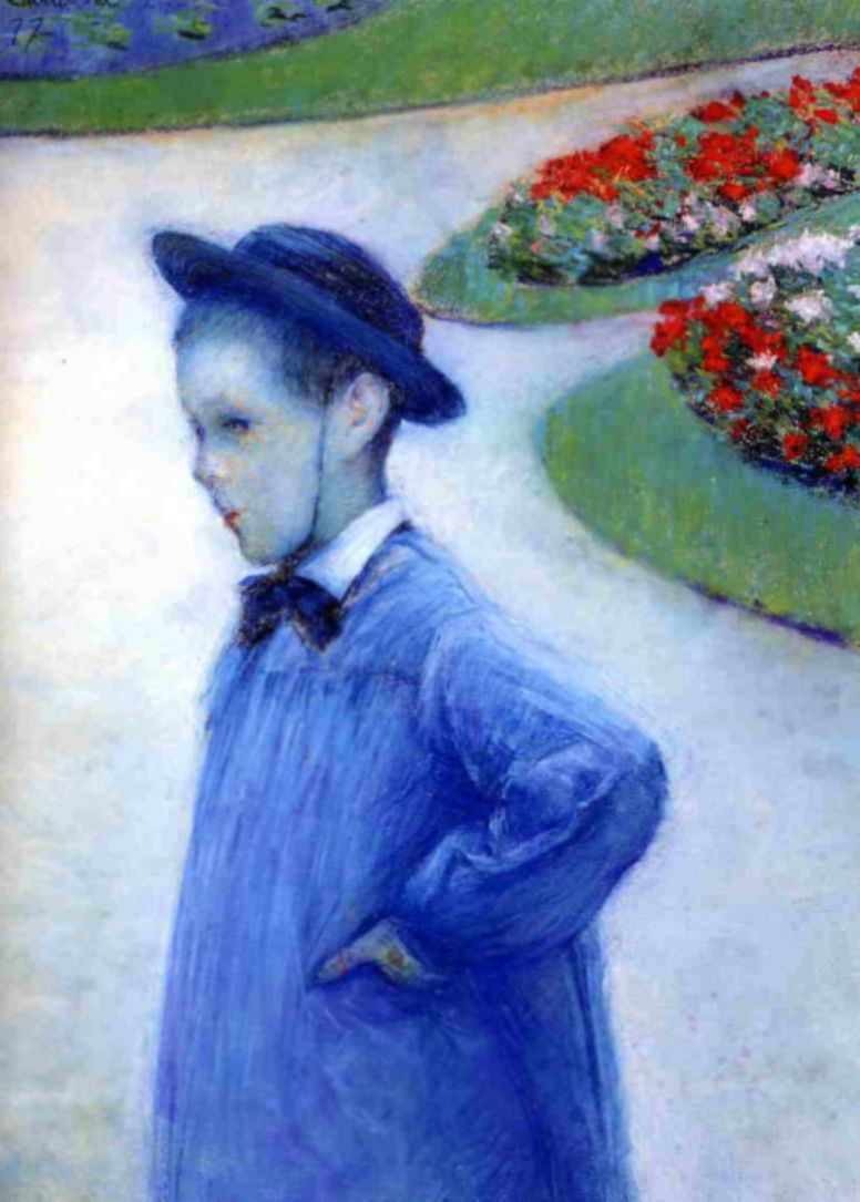 Gustave Caillebotte. Camille Dorell in the Park in Hierro.