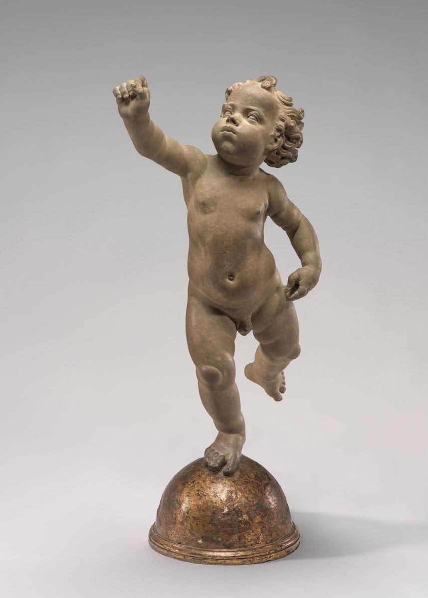 Andrea del Verrocchio. Putto Poised on a Globe