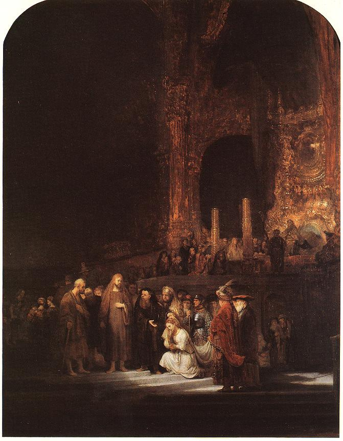 Рембрандт Харменс ван Рейн. Христос и грешница