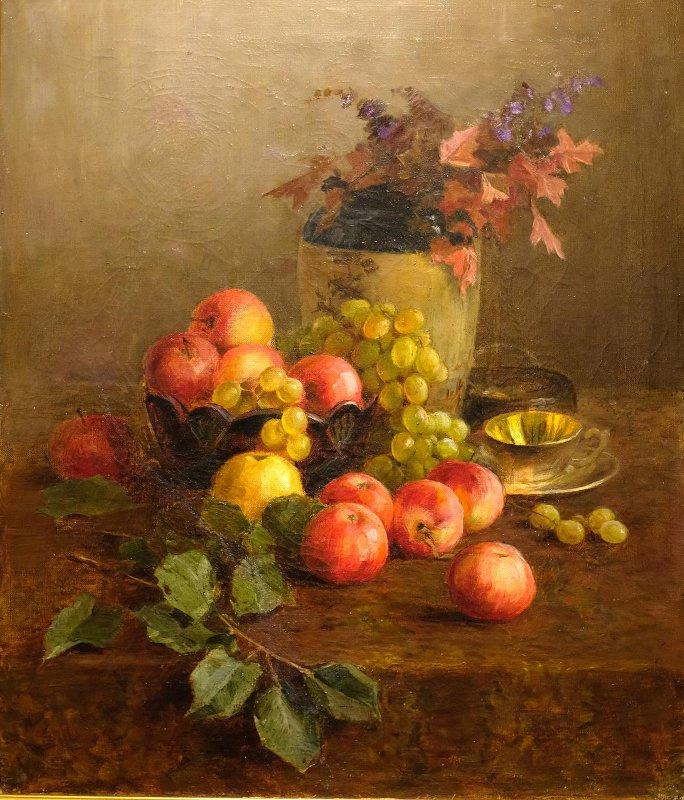 Kondrat Evdokimovich Maksimov. Still life with apples