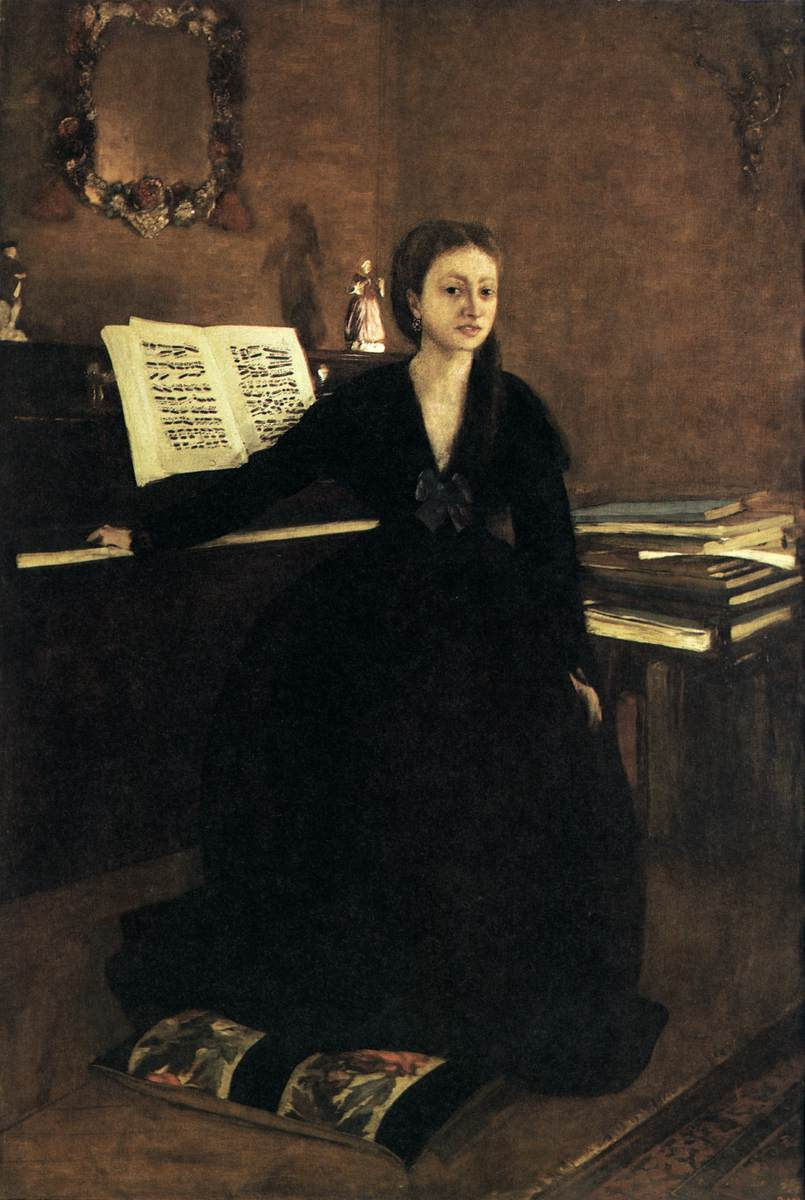 Edgar Degas. Madame Camus at the piano