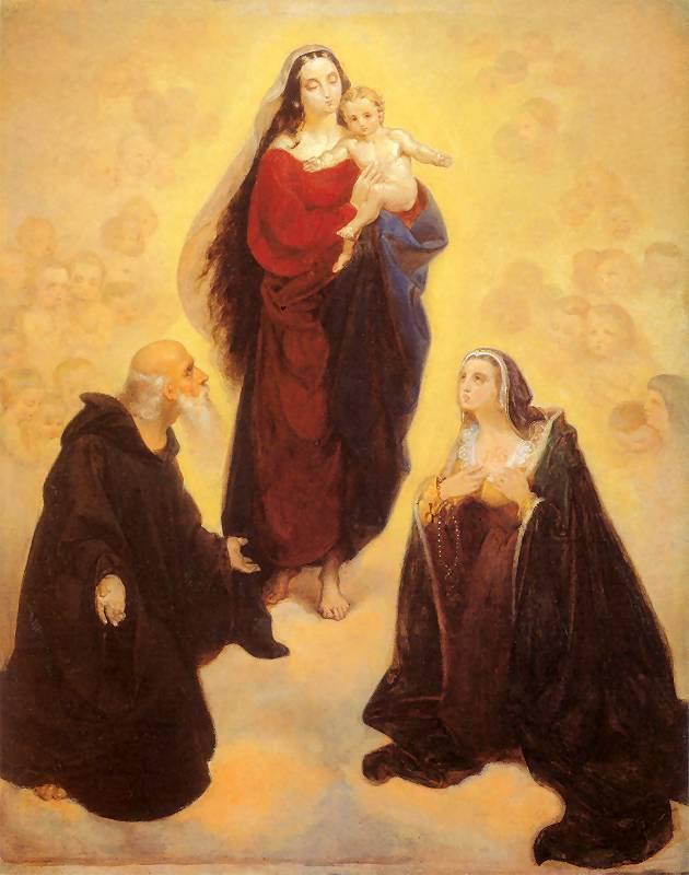 Ян Матейко. Богоматерь со святыми Леонардом и Иоанной