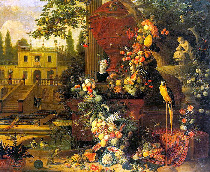 Питер Гуселс. Фрукты в саду