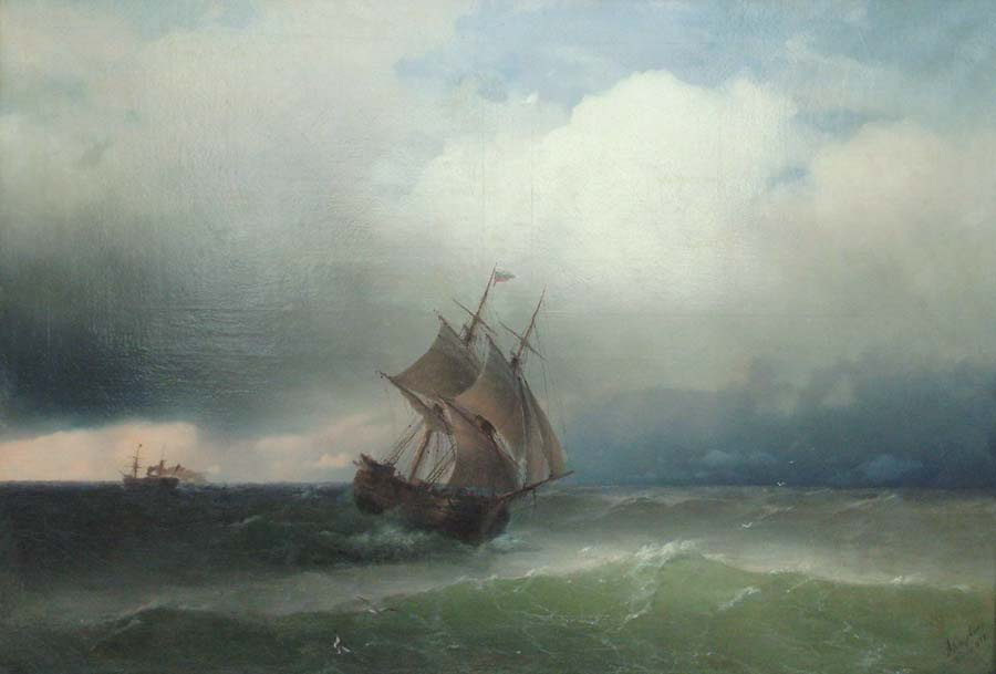 Ivan Aivazovsky. The storm