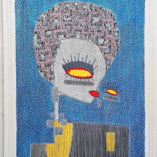 ALO (Aristide Loria). Profile on blue background
