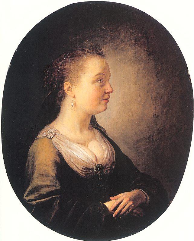 Геррит Доу. Портрет молодой женщины