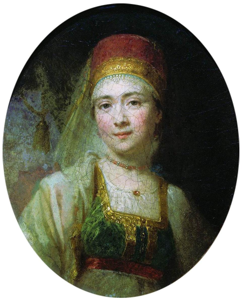 Vladimir Borovikovsky. Portrait of Torzhkovskaya peasant Aksinya