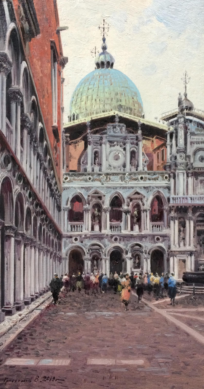 Vasily Ivanovich Gribennikov. At St. Mark's Cathedral. Venice