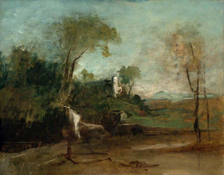 Михай Либ Мункачи. Пейзаж с руинами замка