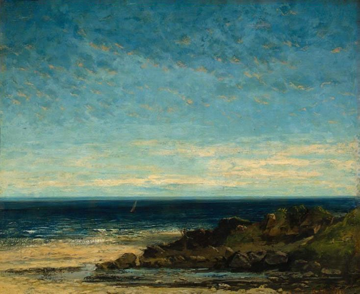 Gustave Courbet. Sea