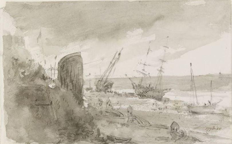 John Constable. Ships on the coast, Brighton