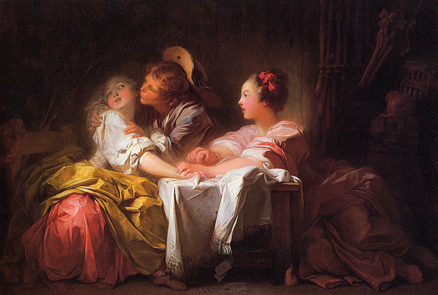Jean-Honore Fragonard. Stolen kiss
