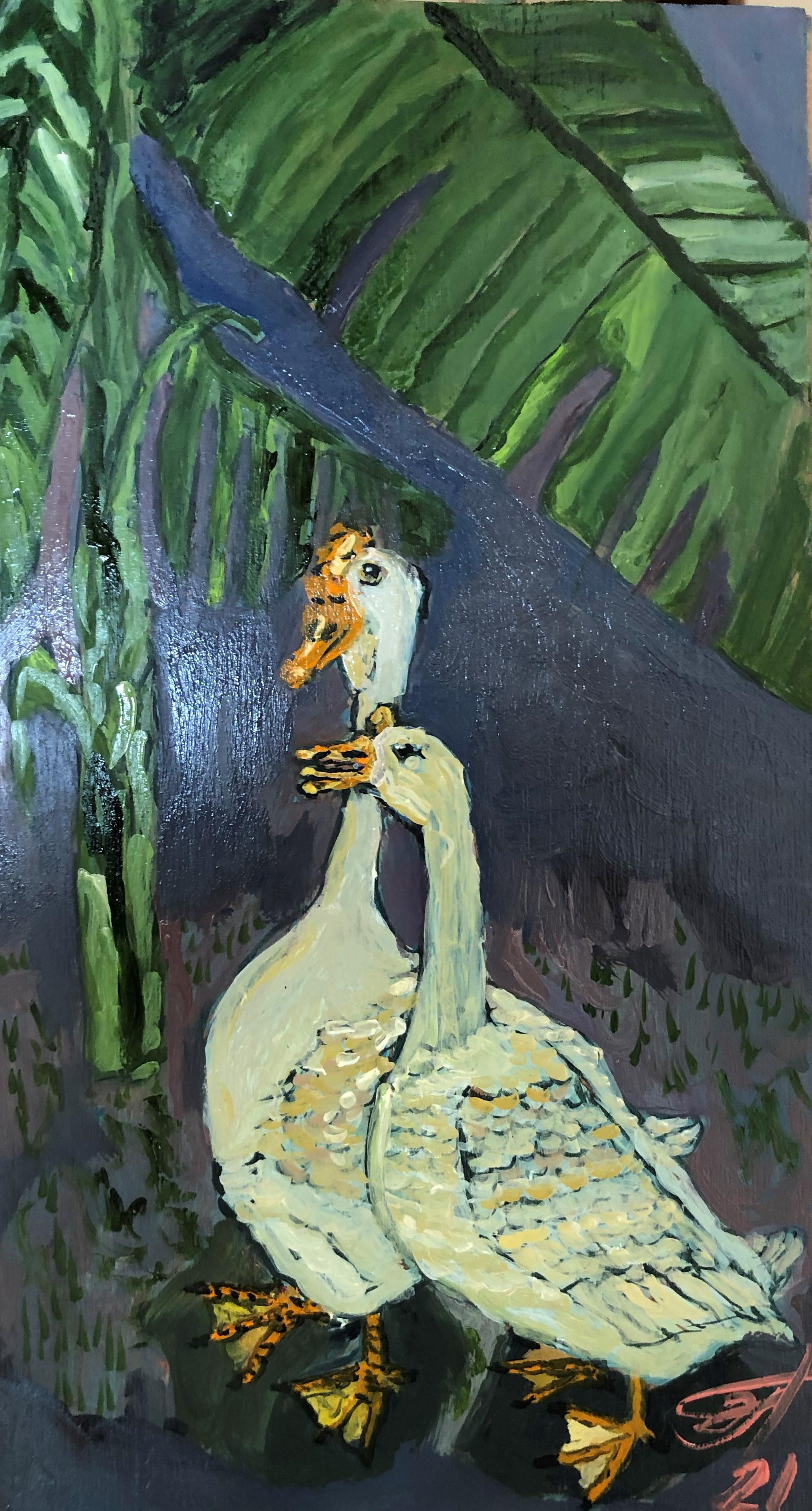Sergey Vladimirovich Sebini. Goose pair. On the subject of Ohara Kasan.
