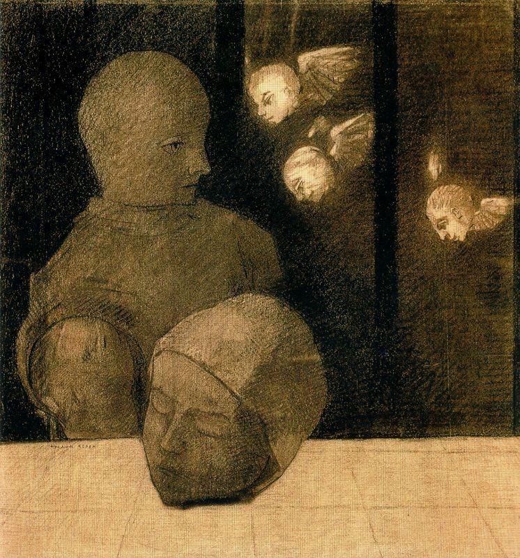 Одилон Редон. Мальчик и головы