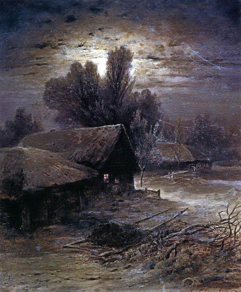 Алексей Кондратьевич Саврасов. Лунная ночь в деревне