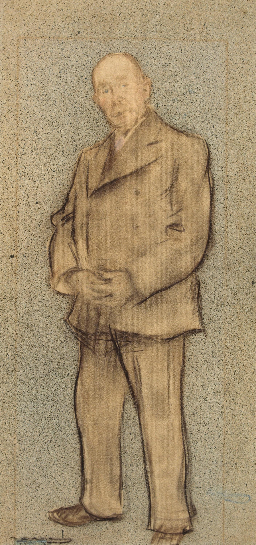 Ramon Casas i Carbó. Portrait of Josep Parera