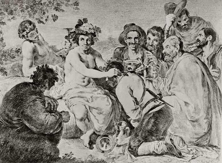 Франсиско Гойя. Триумф Вакха, с картины Веласкеса