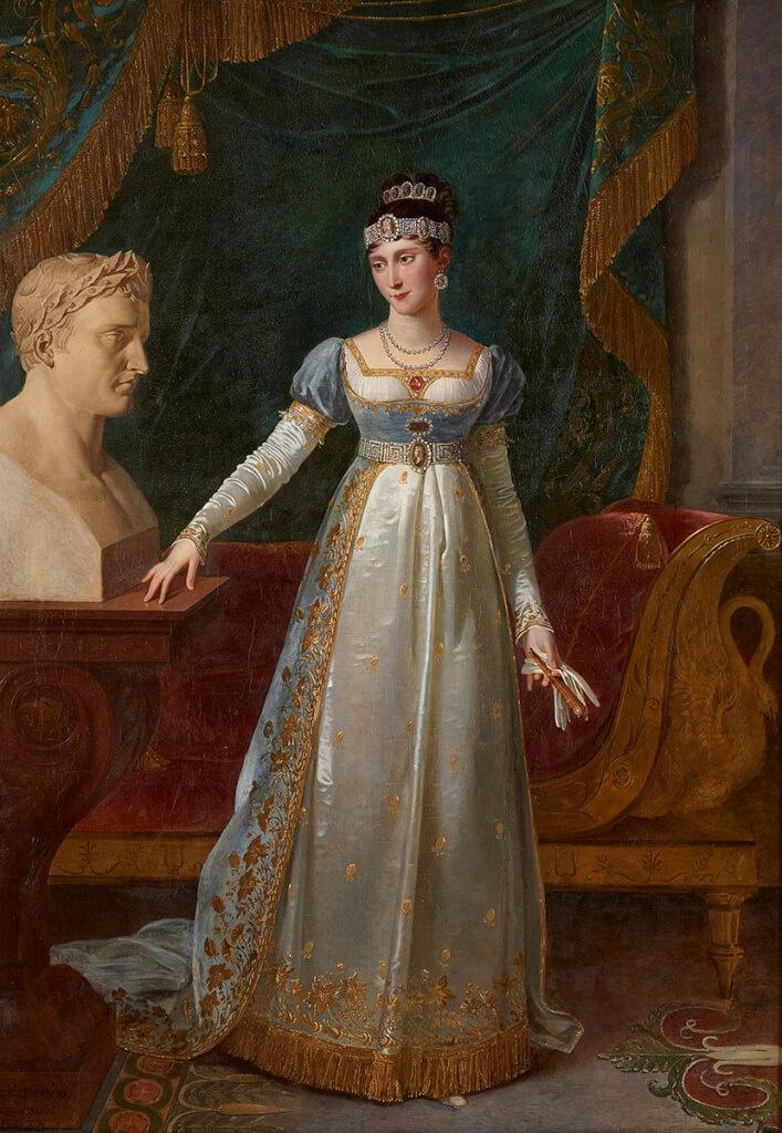 Robert Lefebvre. Portrait of Pauline Borghese, née Bonaparte, sister of Napoleon I