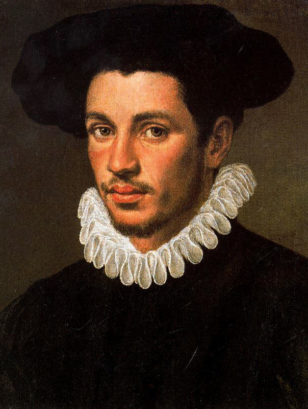 Annibale Carracci. Portrait of a man in a hat