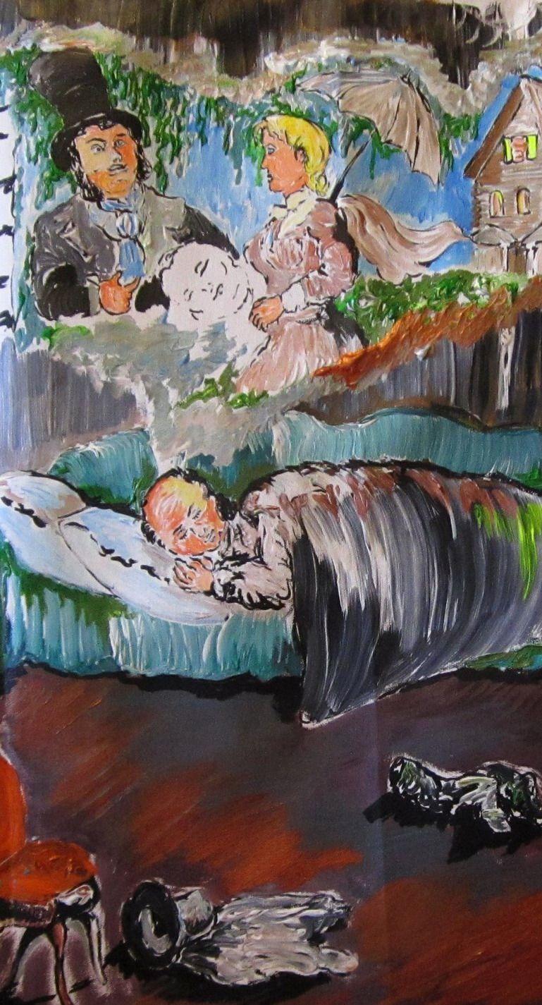 "Дмитрий Юрьевич Буянов. Fragment ""Oblomovism"" the Artist Dmitry Buyanov"