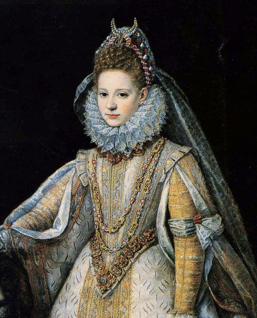 Sofonisba Angisola. Portrait of Margarita di Savoia. Fragment