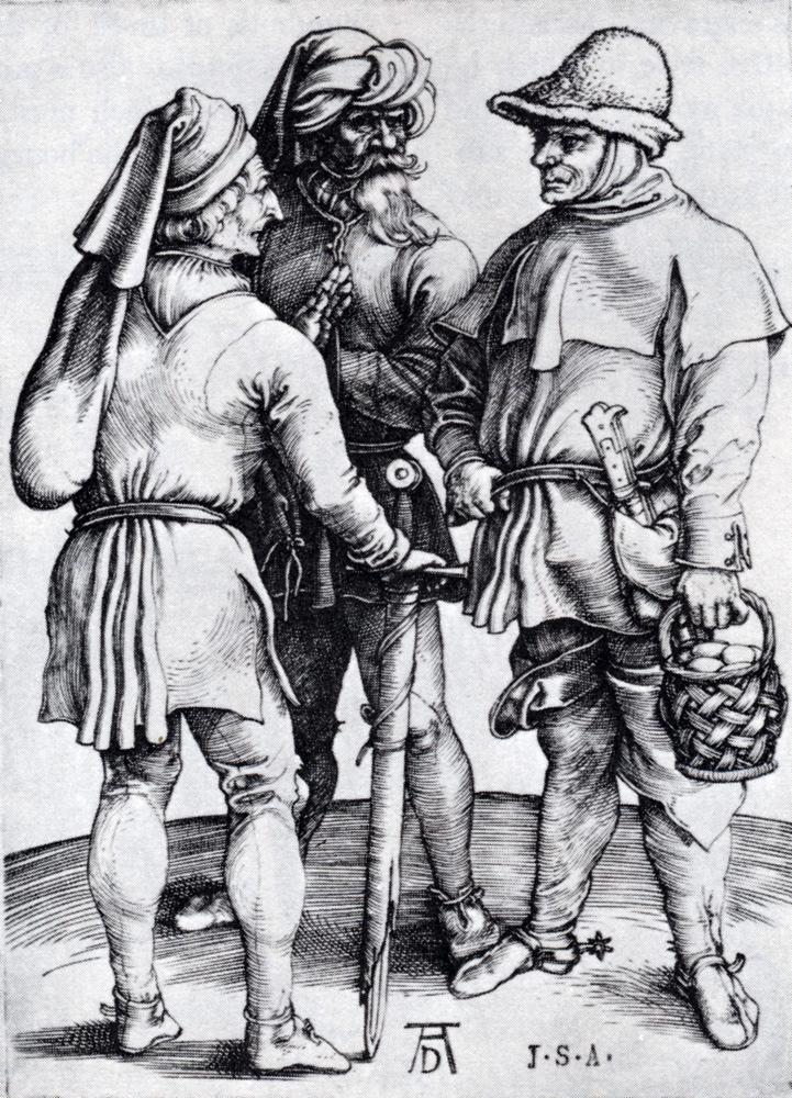 Альбрехт Дюрер. Разговор трех крестьян