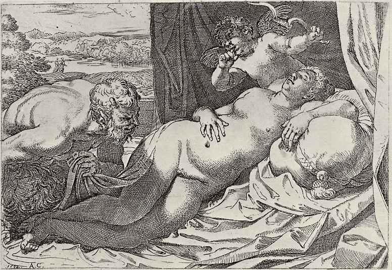 Агостино Карраччи. Венера и Сатир